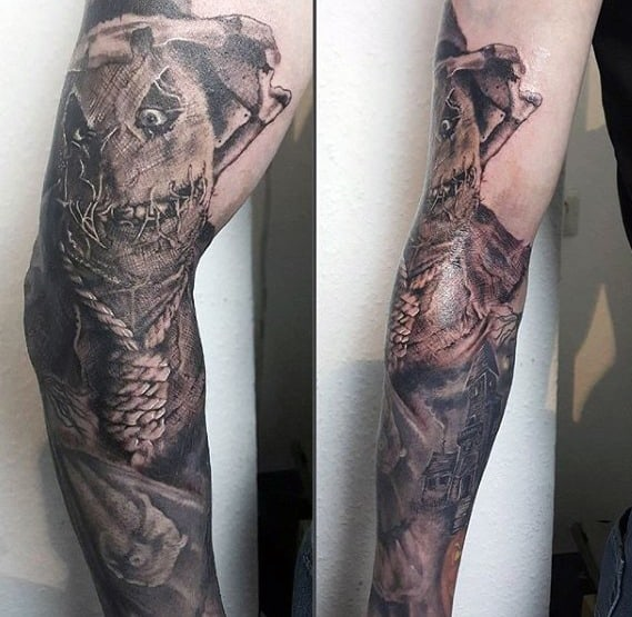 Mens Tattoo Scarecrow Design