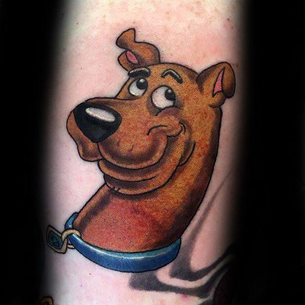 Mens Tattoo Scooby Doo Design