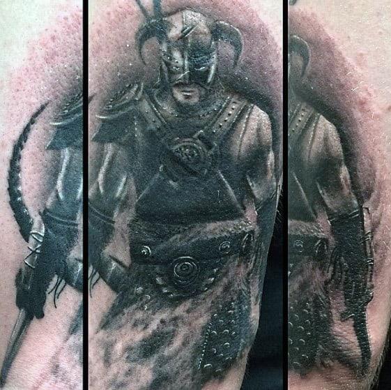 Mens Tattoo Skyrim Design On Arm