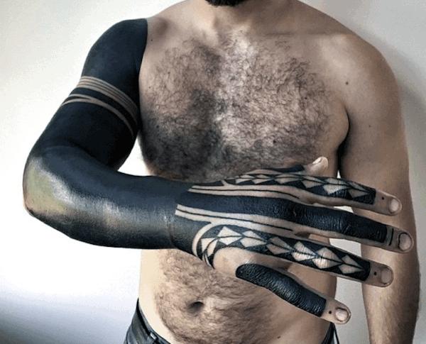 Mens Tattoo Sleeve Blackwork