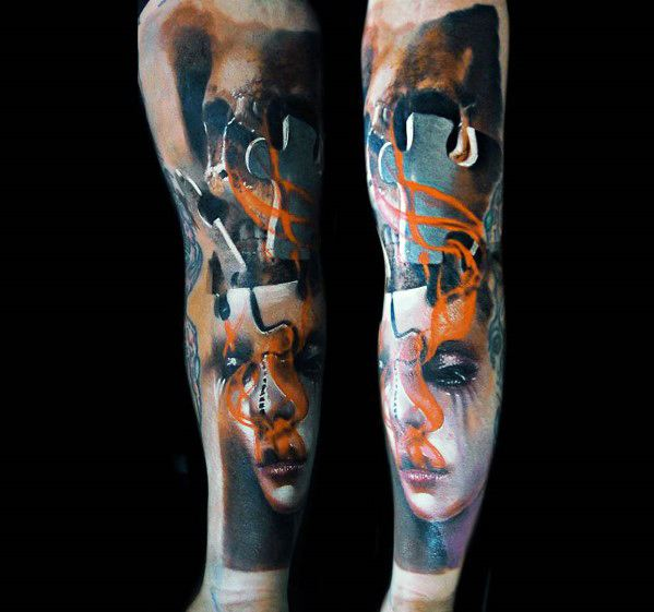 Mens Tattoo Surrealism Design