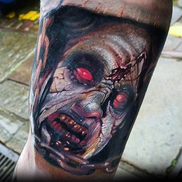 Mens Tattoo With Evil Dead Design