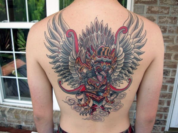 Mens Tattoo With Garuda Design