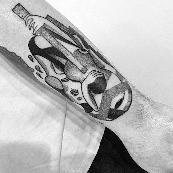 Mens Tattoo With Pablo Picasso Design