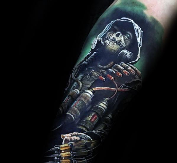 Mens Tattoo With Scarecrow Design