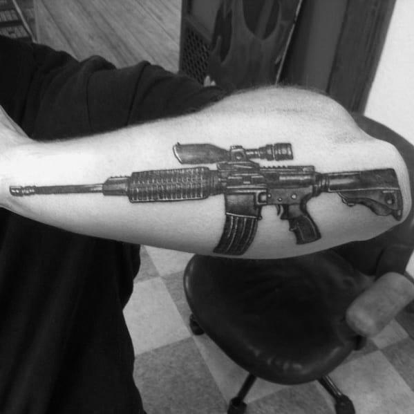 Mens Tattoos Ar 15