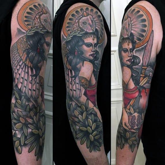 Mens Tattoos Athena