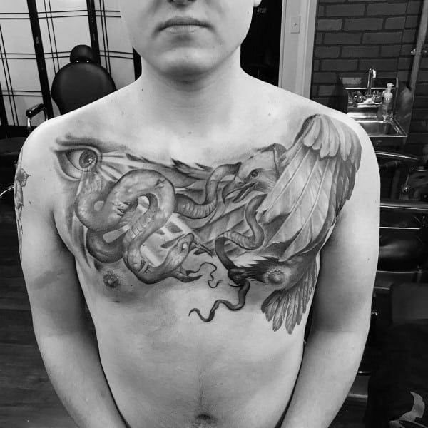 Mens Tattoos Badass Eagle
