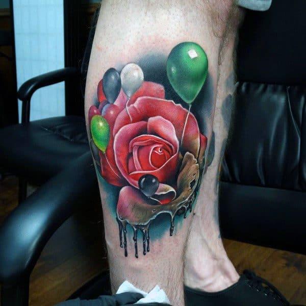 Mens Tattoos Badass Rose