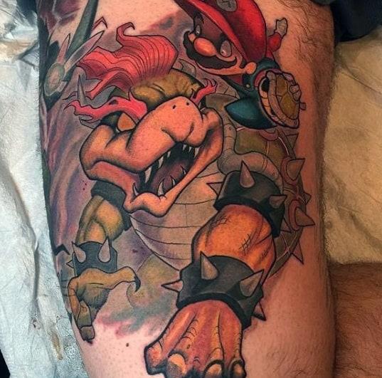 Mens Tattoos Bowser