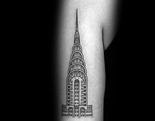 Tattoo Design Bild: 30 Chrysler Building Tattoo Ideas For Men