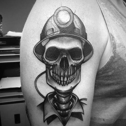 Mens Tattoos Coal Mining