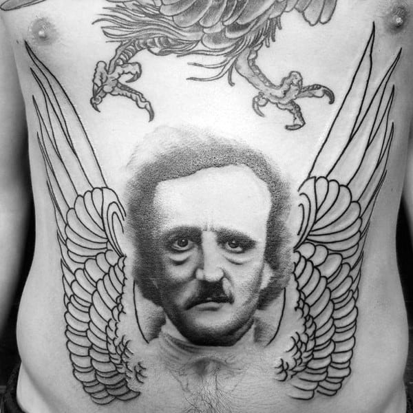 Mens Tattoos Edgar Allan Poe