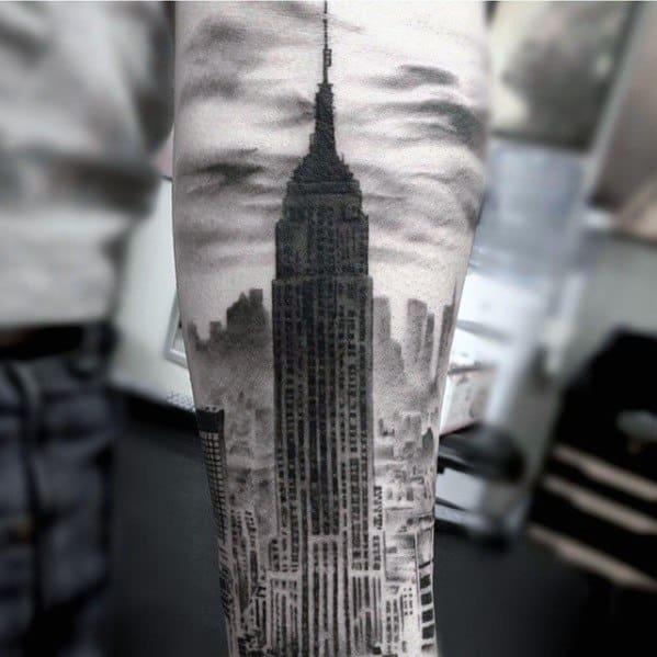Mens Tattoos Empire State Building