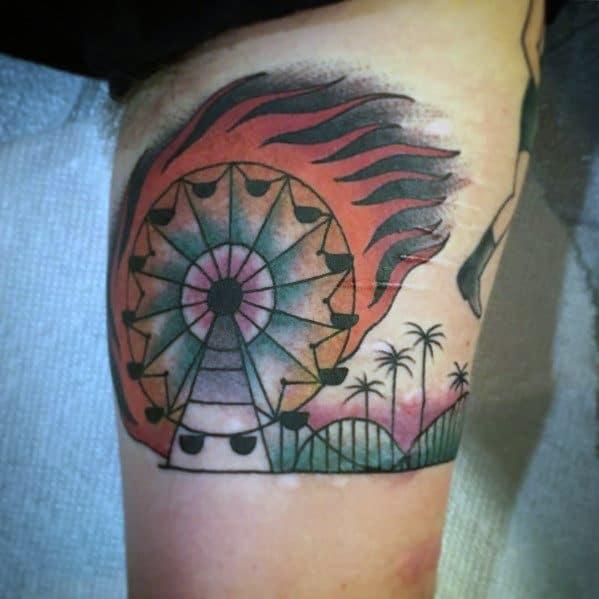 Mens Tattoos Ferris Wheel