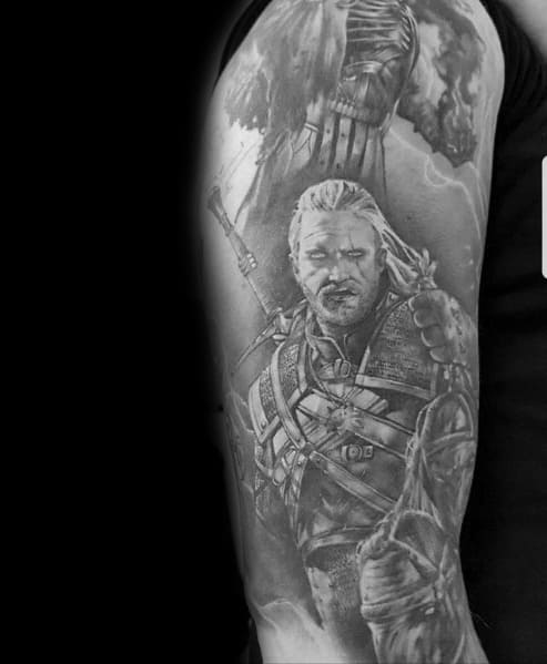 Mens Tattoos Geralt