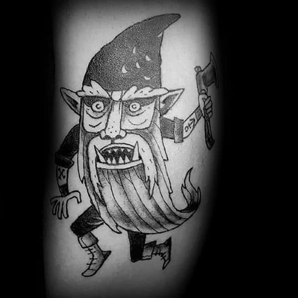 Mens Tattoos Gnome