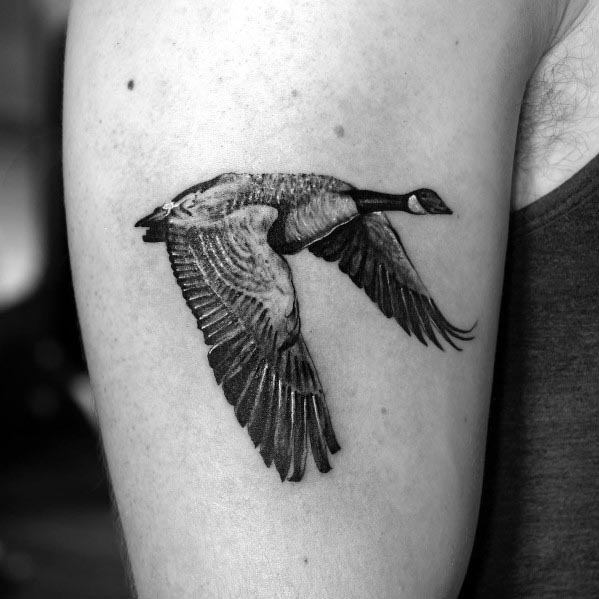Mens Tattoos Goose