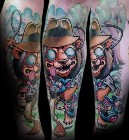 Mens Tattoos Indiana Jones