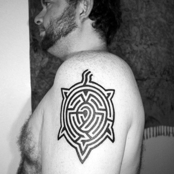 Mens Tattoos Labyrinth