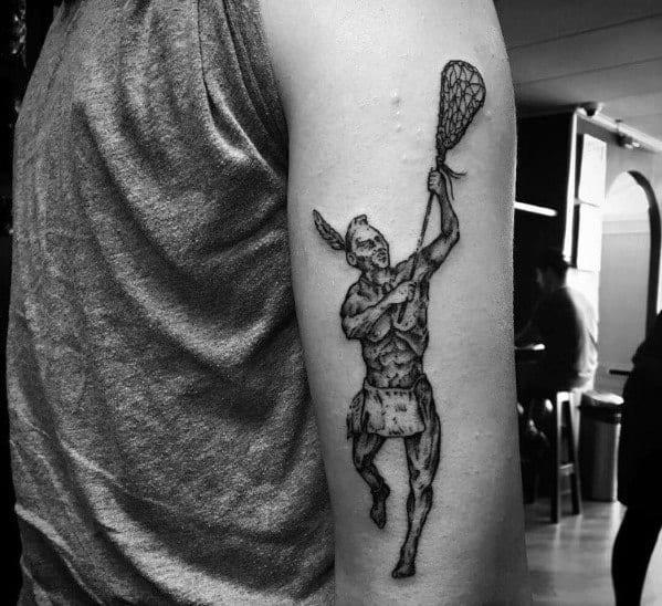 Mens Tattoos Lacrosse