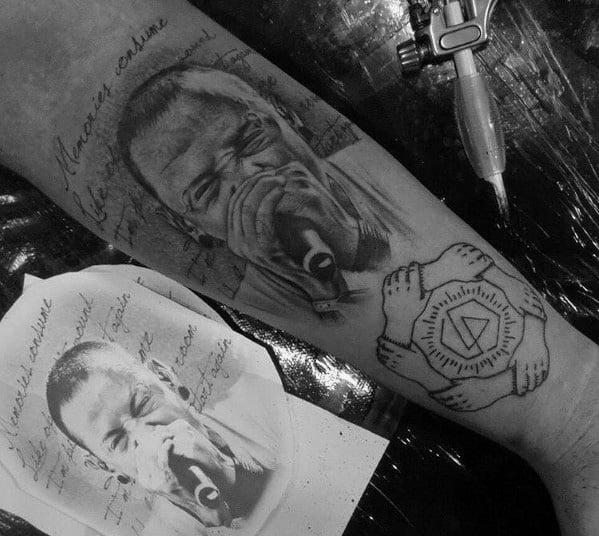 Mens Tattoos Linkin Park