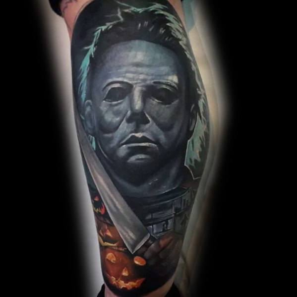 Mens Tattoos Michael Myers