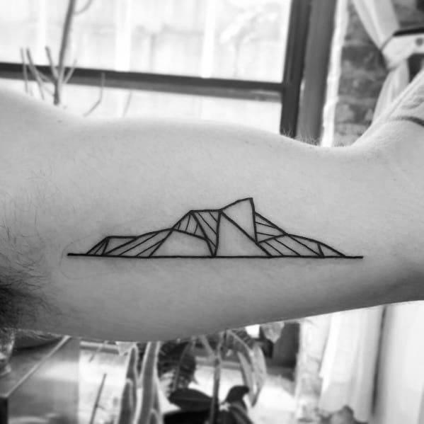 Mens Tattoos Minimalist Mountain