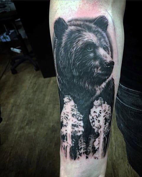 Men's Tattoos Of Bears