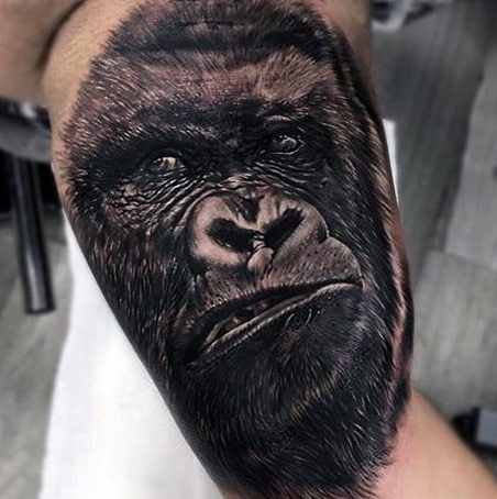 Mens Tattoos Of Gorillas