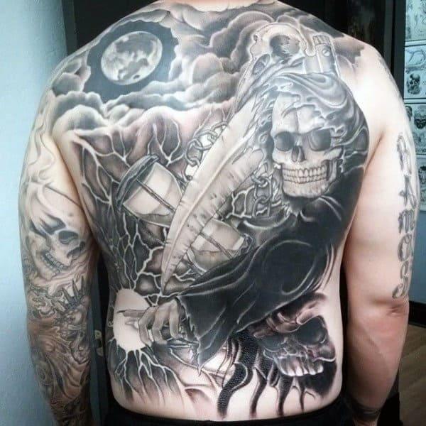 Men's Tattoos Of The Grim Reaper
