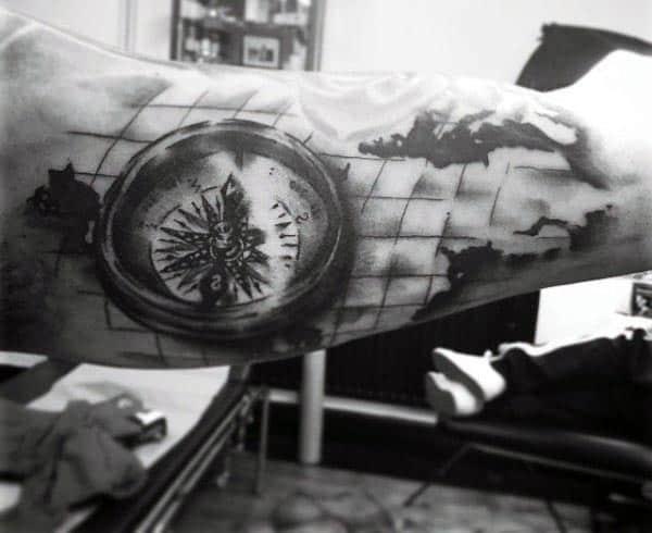 Men's Tattoos On Inner Bicep