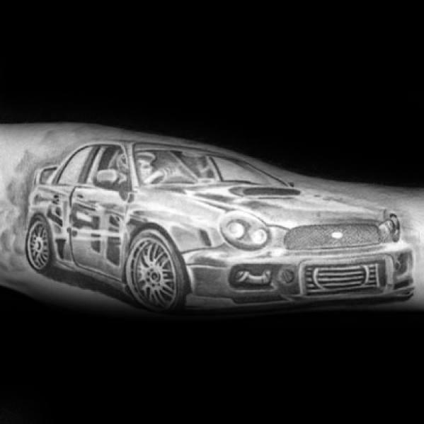Mens Tattoos Subaru