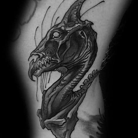 Mens Thestral Tattoo Design Ideas