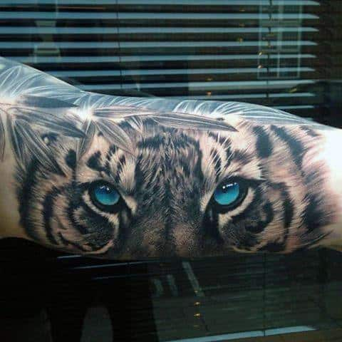Mens Tiger Eyes Tattoo Ideas On Arm