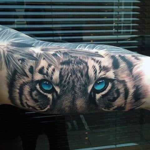 Mens Tiger Eyes Tattoo Ideas On Arm
