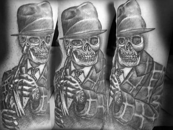 Tommy Gun Gangster Tattoos Www Picsbud Com