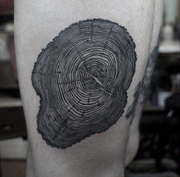 50 Oak Tree Tattoo Designs For Men Leaves And Acorns