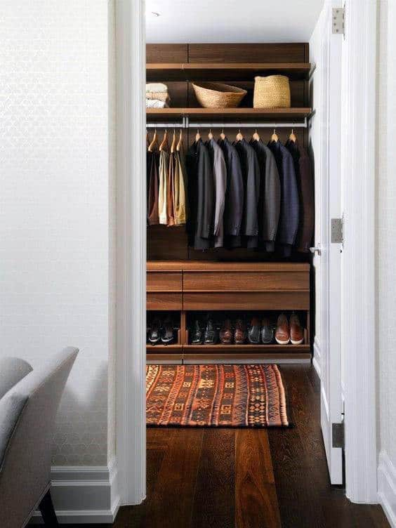 Mens Traditional Hardwood Closet Inspiration