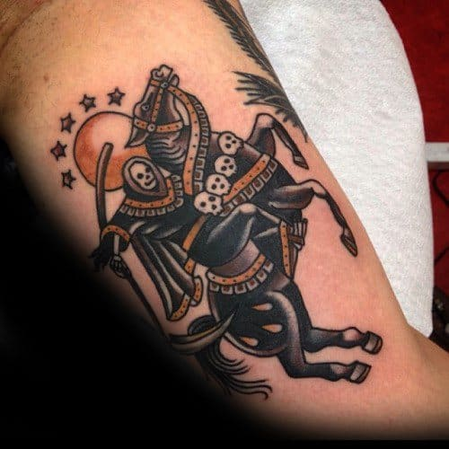 Mens Traditional Horse Tattoo Design Ideas