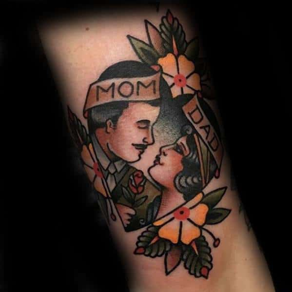 mens-traditional-mom-and-dad-tattoo-design-ideas