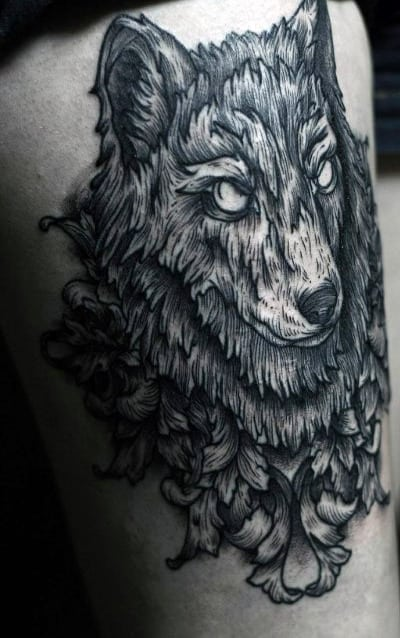 Men's Traditional Wolf Tattoos