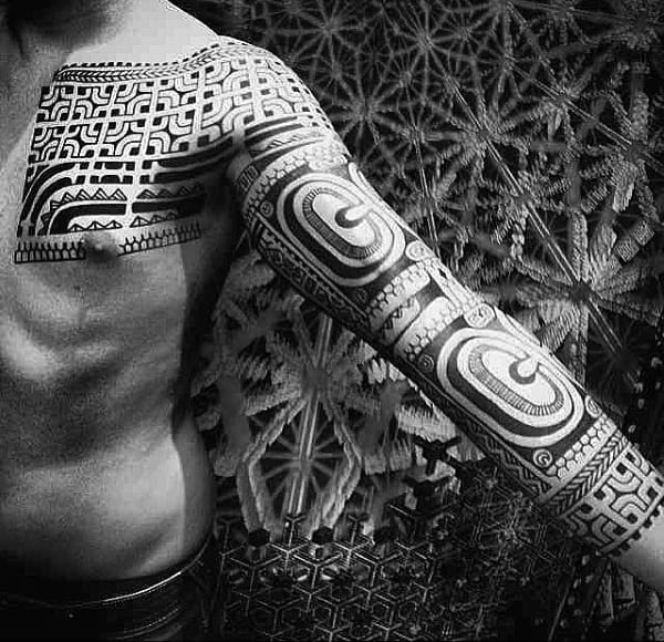 Mens Tribal Tattoo Sleeve Ideas