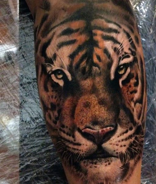 Men's Tribal Tiger Tattoos