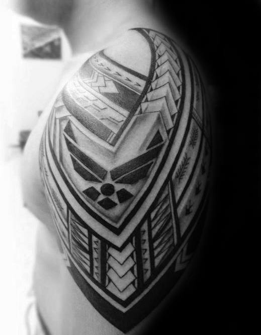 Mens Tribal Us Air Force Arm Tattoos