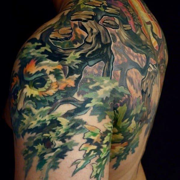 Mens Trippy Tattoo