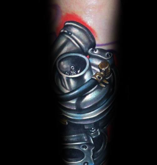 Mens Turbo Tattoo Designs