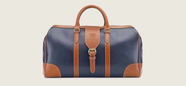 Mens Tusting Harrold Chellington Leather Holdall In Navy
