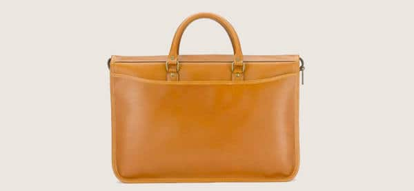 Mens Tusting Marston Briefcase In Caramel Saddle Leather