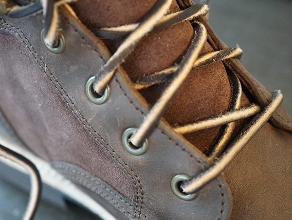 Mens Ugg Magnusson Boots Round Cotton And Leather Laces